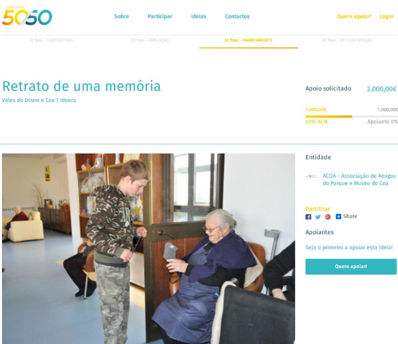 """""""Retrato de uma memória"""" selecionado para o Concurso 50/50"""