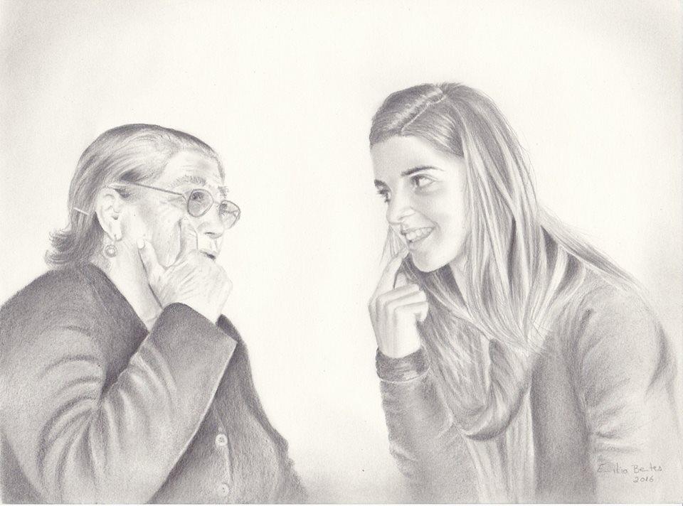"""RETRATO A CARVÃO (linha """"retratos"""")"""